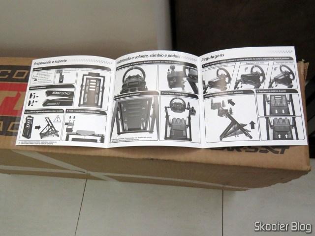 Folheto de instruções do Extreme Cockpit Racing EXR-S XT.