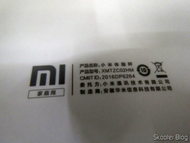 Bottom of Xiaomi Mi Smart Scale 2.