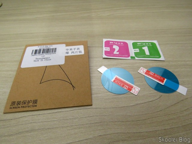 2 Films for the Smart Watch Xiaomi Amazfit Pace and your packaging.