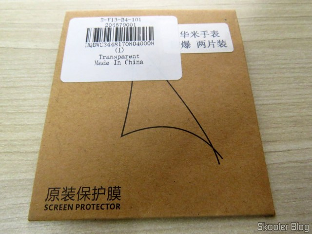 2 Films Smart Watch Xiaomi Amazfit Pace in its packaging.