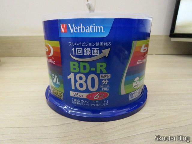2º tube with 50 Blu-Ray Recordable BD-R 25GB Verbatim 6X.