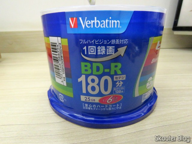 2º tube with 50 Blu-Ray Recordable BD-R 25GB Verbatim 6X.