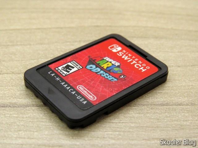 O cartucho de Super Mario Odyssey - Nintendo Switch.