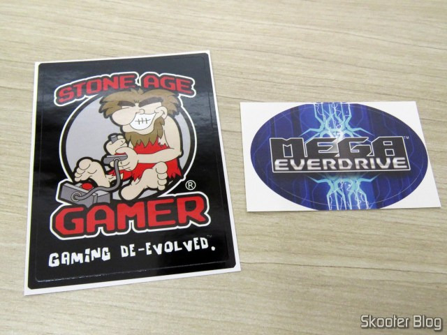Stickers that come with the Mega EverDrive X 7 - Deluxe Edition.