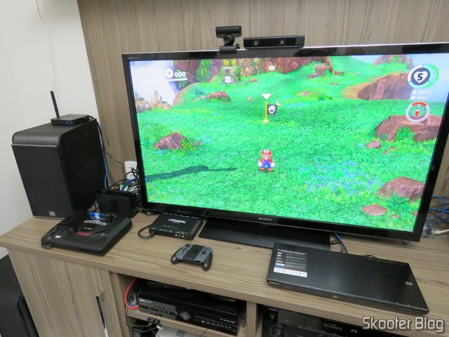 Nintendo Switch, ligado na TV.