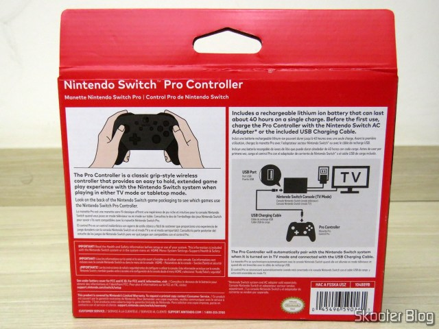 Nintendo Pro Controller Switch, on its packaging.