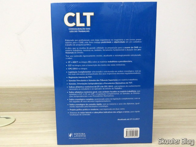 CLT - Consolidation of labor laws (2018) - Publisher Juspodivm.