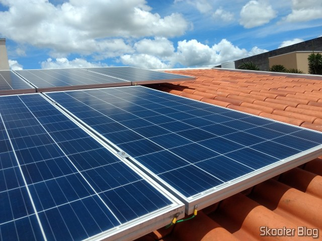 Photovoltaic panels installed on my roof.