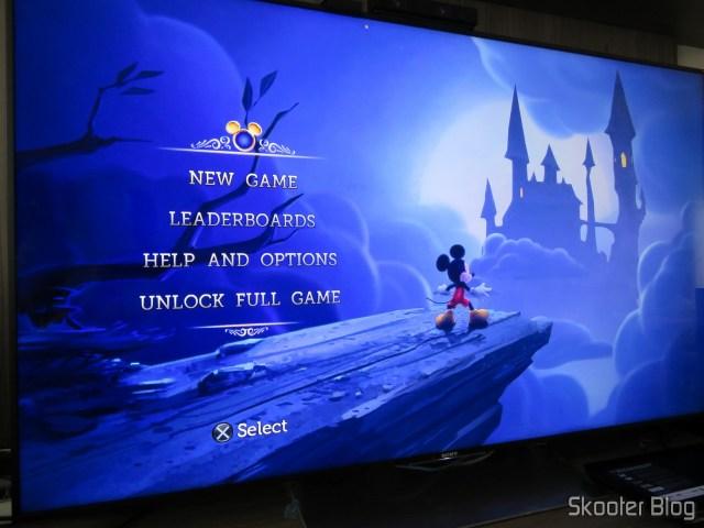 Playstation 3 na Sony XBR-55X905E.