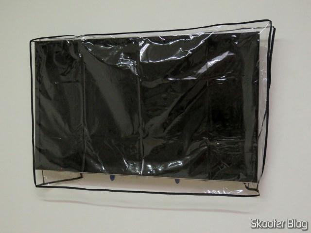 """TV SonyKDL-46HX755, com capa, no Suporte Fixo p/ TV LCD, LED ou Plasma de 32"""" a 75"""" ELG E600 NEW, fixado na parede."""