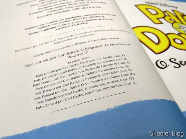 Pato Donald - O Segredo de Hondorica - Coleção Carl Barks Definitiva