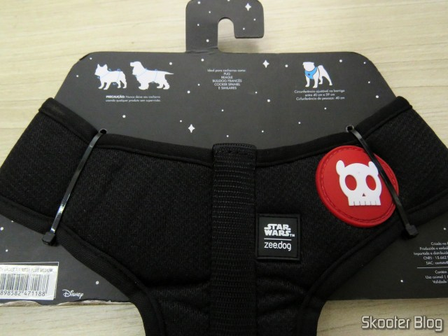 Breastplate for dogs Zee. Dog Mesh Plus Star Wars Darth Vader M.