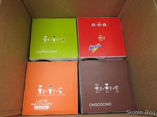 2ND shipment of Nescafé Dolce Gusto Capsules:  Cappucino, Chococino, Caramel Latte Macchiato, Chocolate milk,  Marrakesh Style Tea,  and Nestea ® Lemon