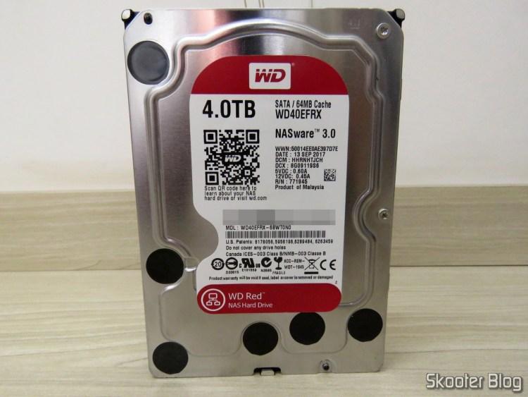 "HDD Western Digital 3.5"" Red, modelo WD40EFRX de 4TB."