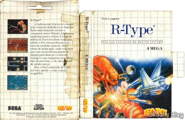 Capa da Tec Toy para o R-Type - Master System.