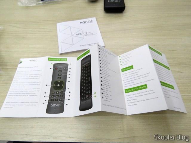 Folhetos e manuais do Minix NEO U9-H.