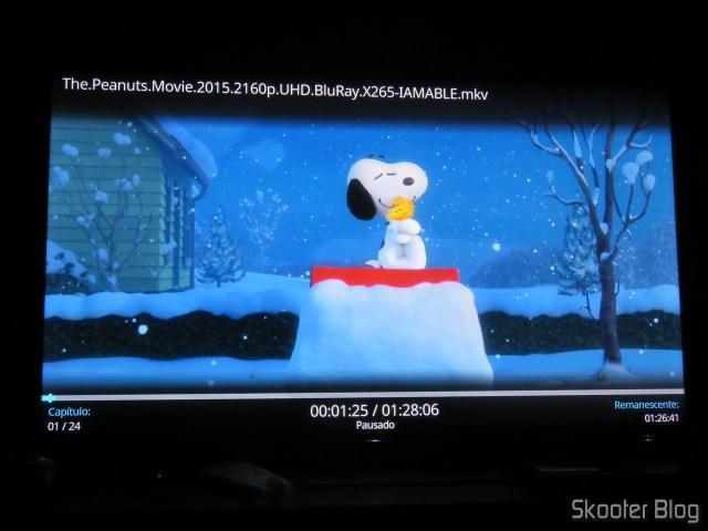 """""""The Peanuts Movie"""" em 4K HDR no Minix NEO U9-H."""