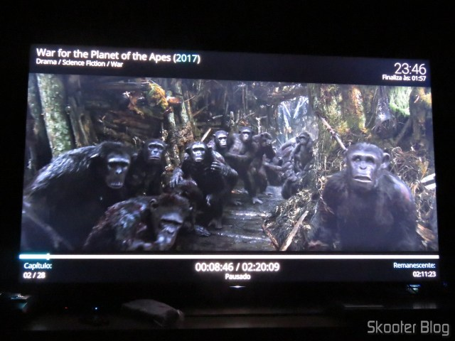 """War for The Planet of Apes"" em 4K HDR no Minix NEO U9-H."