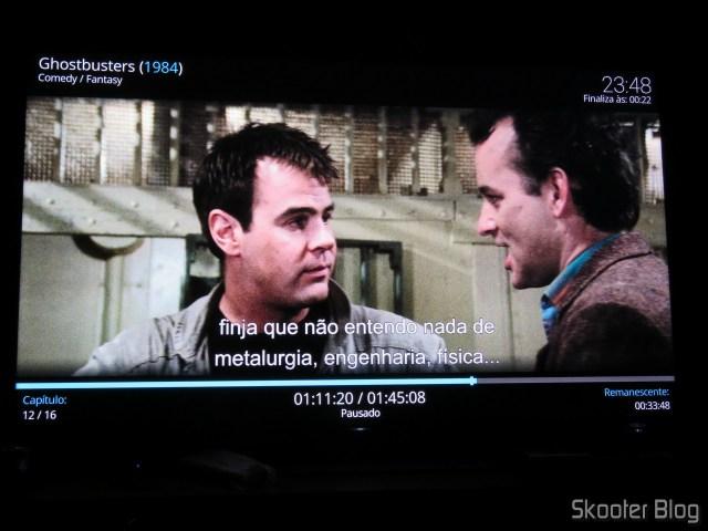 """Ghostbusters"" in 4 k HDR in Minix NEO U9-H."