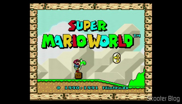 Super Mario World no Super Nintendo 1Chip (2/1/3).