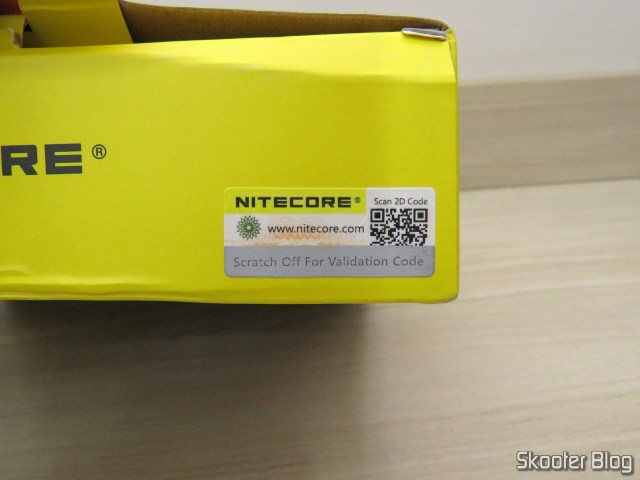 Nitecore Digicharger battery charger D4EU, on its packaging.