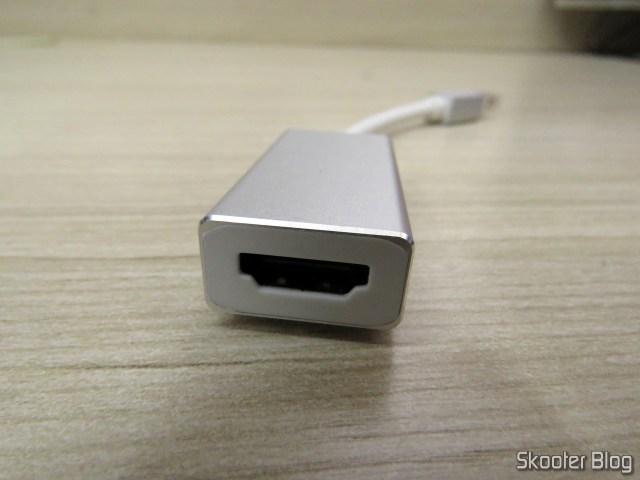 Adaptador Mini Display Port DP para Thunderbolt HDMI 2.0 4K.