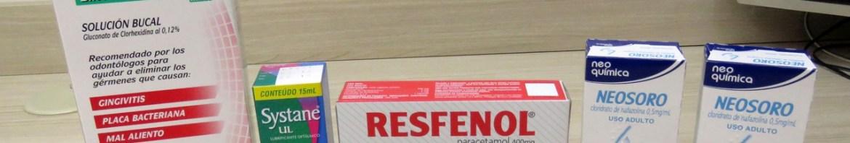 Periogard, Systane, Resfenol e 2 Neosoro.