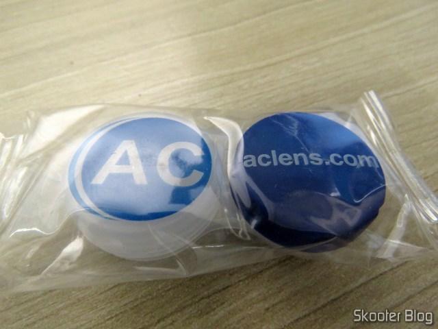 Estojo para lentes de contato da AC Lens.