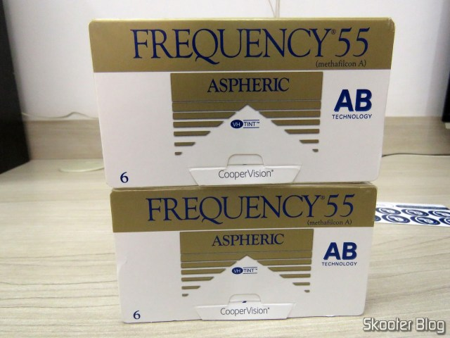 Aspheric contact lenses Coopervision Frequency 55 Aspheric.