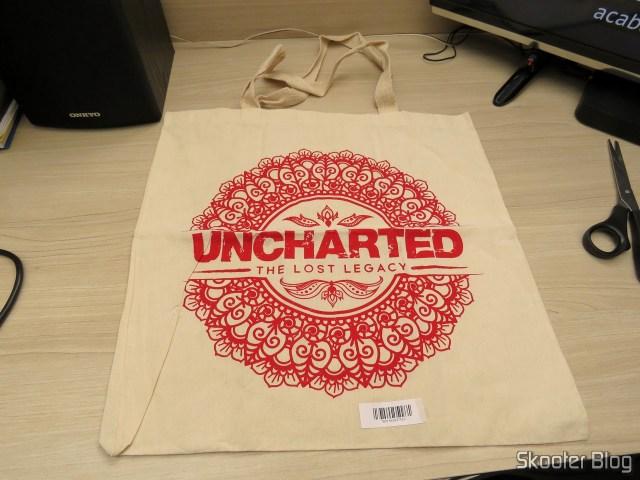 Sacola do Uncharted que veio como brinde.