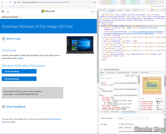 Download das ISOs oficiais do Windows 10 sem o Media Creation Tool