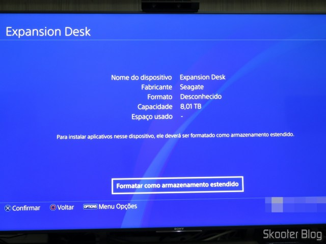 Seagate Expansion 8 TB external HD detected on Playstation 4 For.