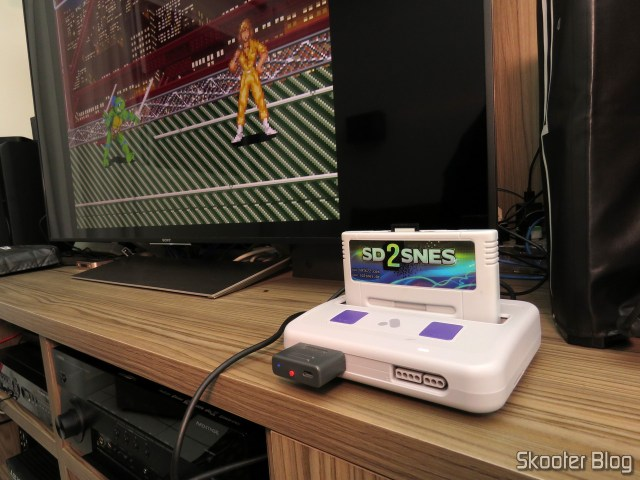 Analogue Super Nt, operation, with the SD2SNES cartridge.