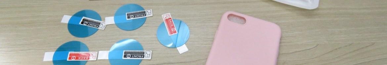 Capa de Silicone para iPhone 7 e as Películas para Amazfit Pace.