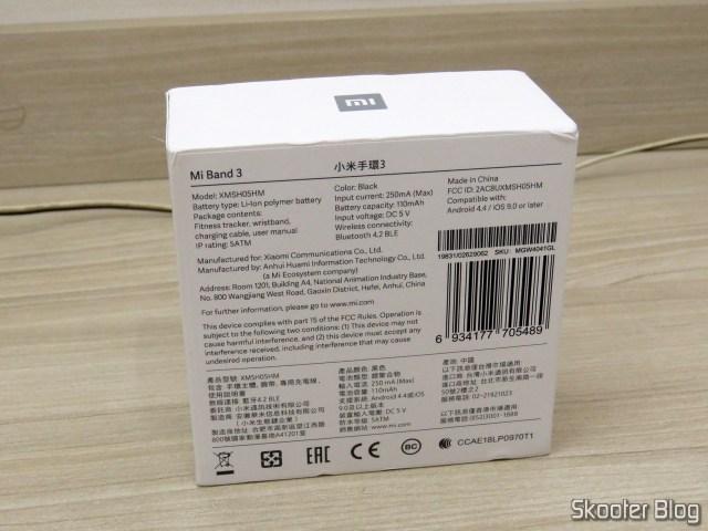 Xiaomi Mi Band 3 Original, em sua embalagem.