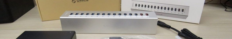 Hub USB 3.0 Orico A3H13P2, e acessórios.