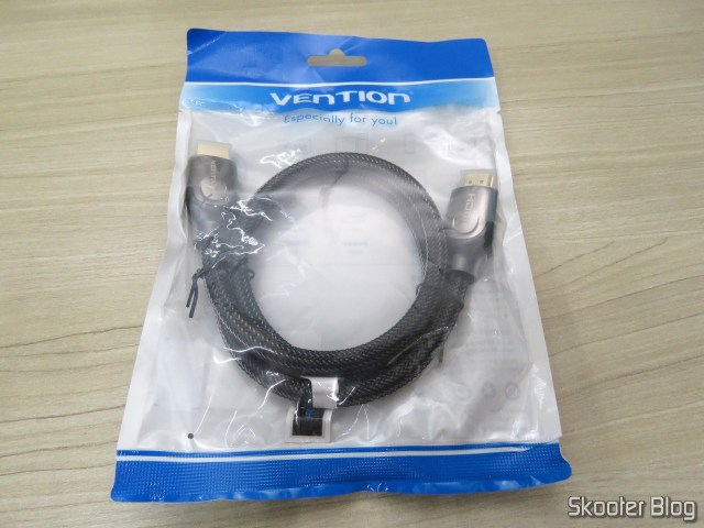 6th HDMI cable 2.0 4K-3D 60 Hz Vention of 75 centimeters, on its packaging.