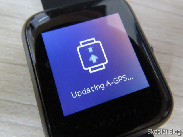 Watch Smartwatch Xiaomi Huami Amazfit Bip, operation, updating the A-GPS.