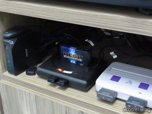 Teste da nova placa do Mega Everdrive X7 no Analogue Mega Sg.