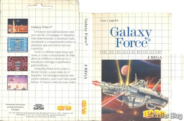 Caixinha do Galaxy Force - Master System.