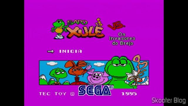 Tela de Abertura de Sapo Xulé vs Os Invasores do Brejo - Master System