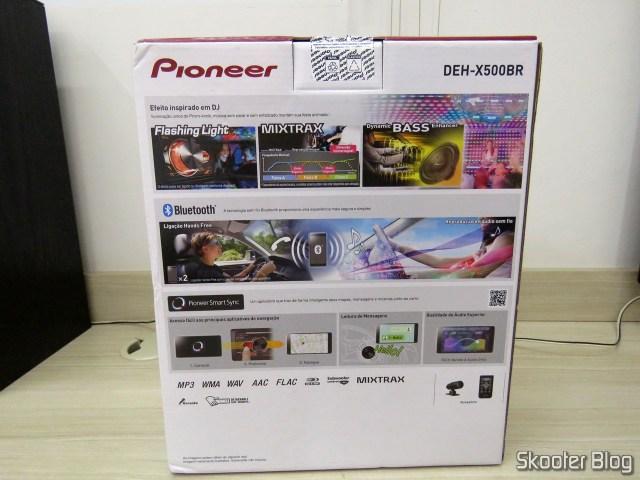 Som Automotivo Pioneer CD Player MP3 AM/FM - Bluetooth USB Auxiliar DEH-X500BR, em sua embalagem.