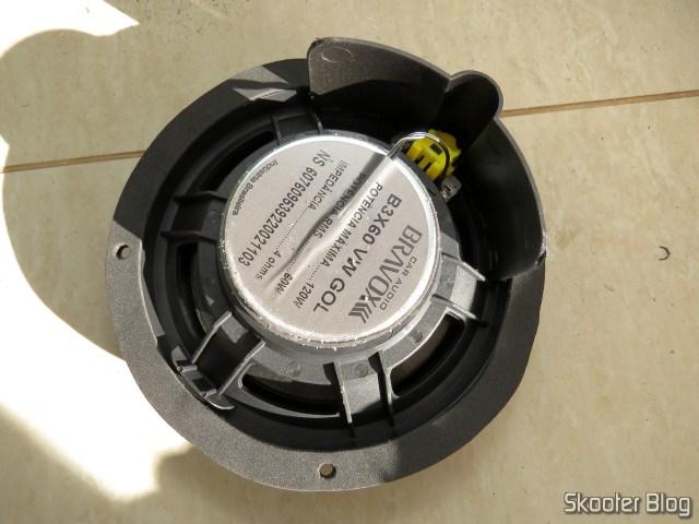 Alto Falante Triaxial Bravox Linha Original 6 Pol B3X60 VWGOL, com a espuma de EVA já colada.