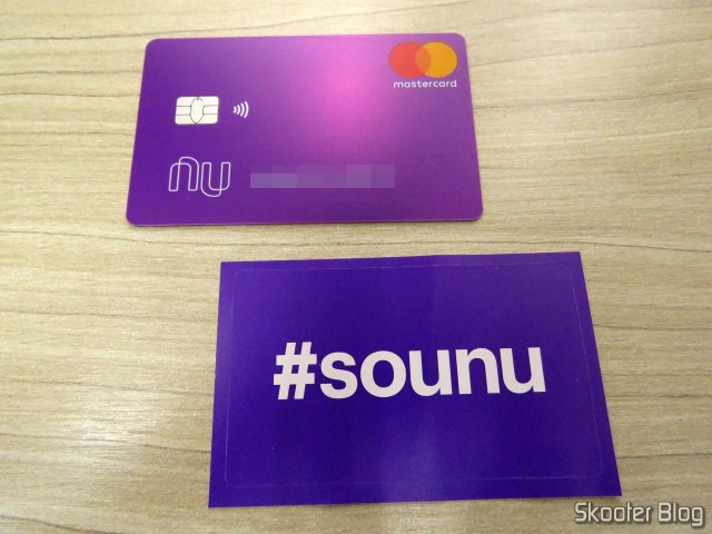 Multiple Contactless card NuBank, and adhesive.