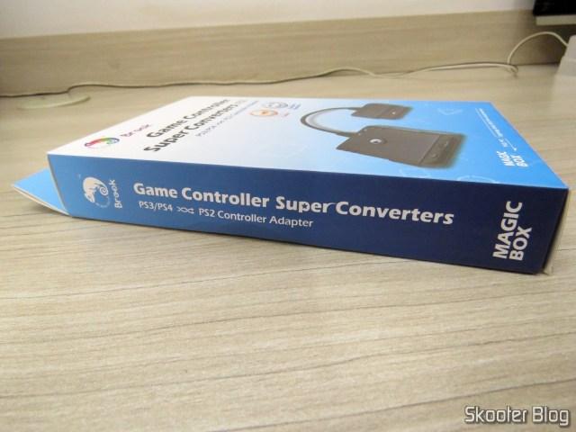 Adaptador de Controle Playstation PS3/PS4 para PS2/PS1/PC Brook Game Controller Super Converters Magic Box P2-BL, em sua embalagem.