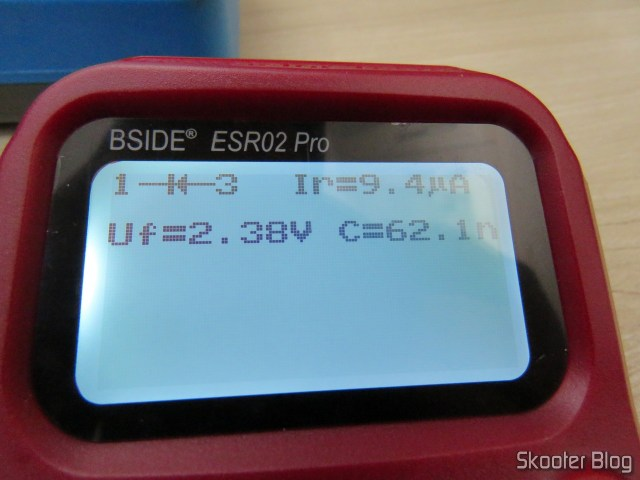 Measuring capacitor C221 with Bside ESR02 Pro.