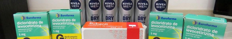 Rubenti 200mg, 4x Dicloridrato de Levocetirizina 5mg, 6x Desodorante Antitranspirante Aerosol Nivea Silver Protect - Droga Raia - 3º Pedido