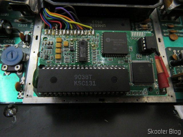 The new Chip TIA Atari 2600, already installed.