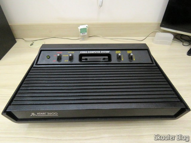 Atari 2600, getting a good cleaning.