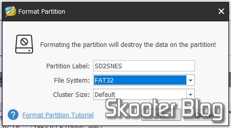Formatando o SDXC Sandisk Extreme PRO em FAT32 com o MiniTool Partition Wizard Free.
